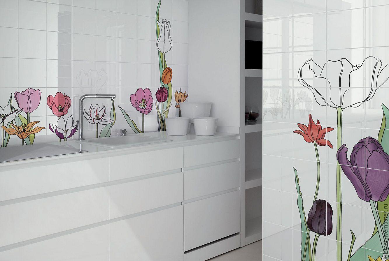 Панно плитка тюльпаны
