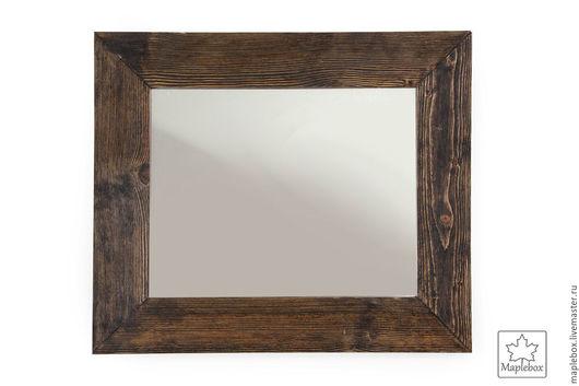 Зеркала ручной работы. Ярмарка Мастеров - ручная работа. Купить Зеркало в кантри стиле. Handmade. Коричневый, рустикальный стиль, венге
