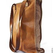 Сумки и аксессуары handmade. Livemaster - original item Bag genuine leather Red and Mustard caramel with handles. Handmade.