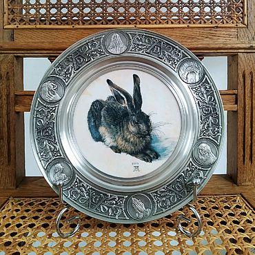 "Винтаж ручной работы. Ярмарка Мастеров - ручная работа Коллекционная тарелка ""Заяц"" Альбрехта Дюрера. Handmade."