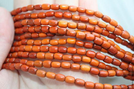Для украшений ручной работы. Ярмарка Мастеров - ручная работа. Купить Красное дерево,  бусины рис ,  6 мм. Handmade.