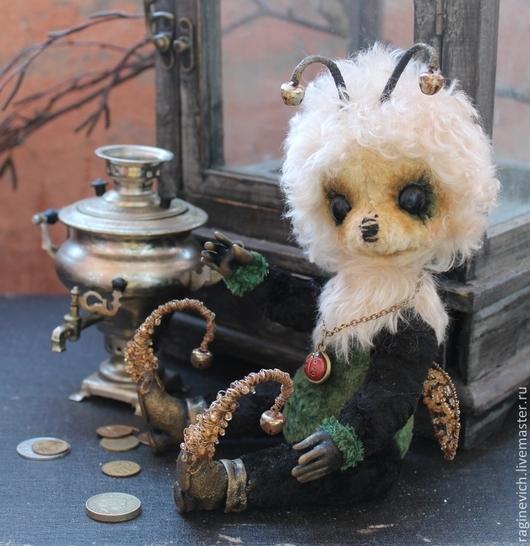 Мишки Тедди ручной работы. Ярмарка Мастеров - ручная работа. Купить Муха - Цокотуха. Handmade. Муха, черный, плюш винтажный