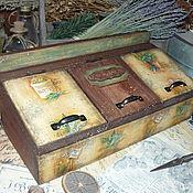 """Для дома и интерьера ручной работы. Ярмарка Мастеров - ручная работа """"Ароматные травы"""" - короб для специй. Handmade."""