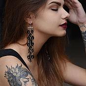 Earrings handmade. Livemaster - original item Leather earrings Bold. Handmade.