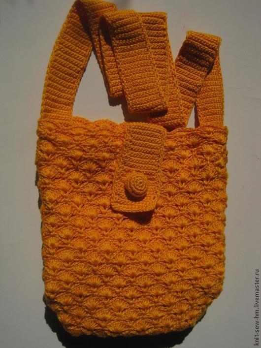 Женские сумки ручной работы. Ярмарка Мастеров - ручная работа. Купить Сумка вязаная. Handmade. Желтый, сумка ручной работы