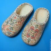 """Обувь ручной работы. Ярмарка Мастеров - ручная работа Тапки валяные домашние """"Нежные"""". Handmade."""