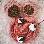 Работы для детей, ручной работы. Ярмарка Мастеров - ручная работа обмотка + 2 чепчика для фотосессии новорожденной. Handmade.