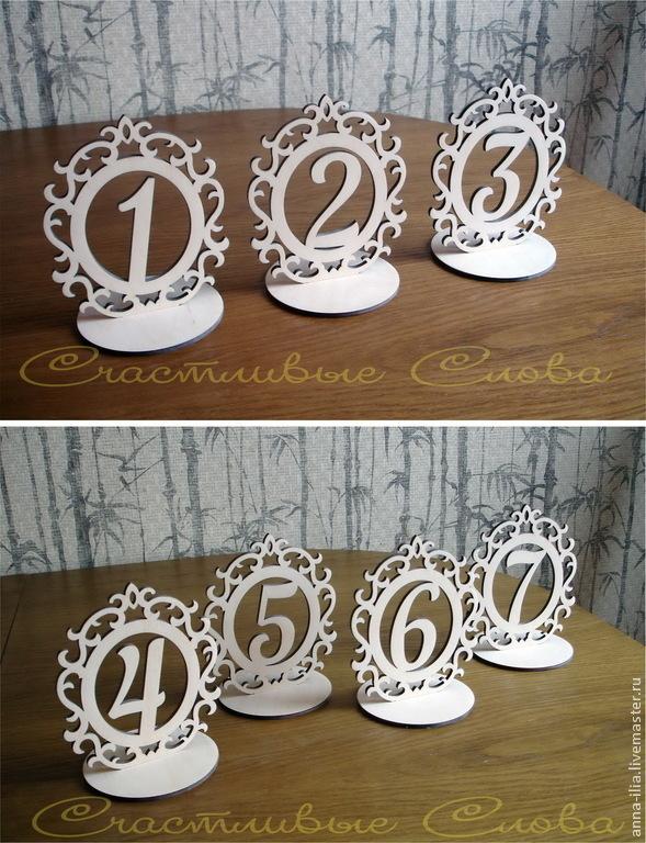 Номерки для столов на свадьбу