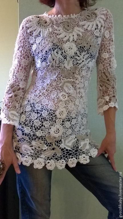 Простое вязание крючком блузки