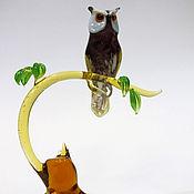 Для дома и интерьера ручной работы. Ярмарка Мастеров - ручная работа Интерьерная композиция Проголодавшийся сыч на весеннем пне. Handmade.