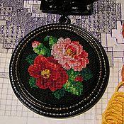 Украшения handmade. Livemaster - original item Pendant with handmade embroidery. Handmade.