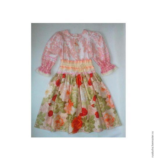 """Одежда для девочек, ручной работы. Ярмарка Мастеров - ручная работа. Купить Детское платье  """"Вальс цветов"""". Стиль бохо.. Handmade."""