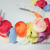 Свадебный салон ручной работы. Ярмарка Мастеров - ручная работа Ободок, лютики, разноцветные. Handmade.