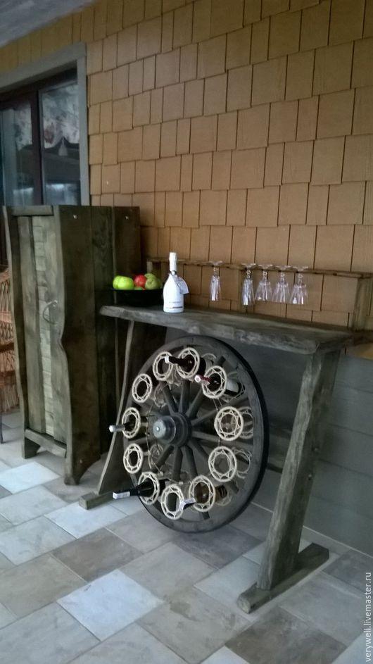 Мебель ручной работы. Ярмарка Мастеров - ручная работа. Купить Барная стойка. Handmade. Оливковый, шкаф, мини бар, металл