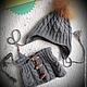 """Шапки и шарфы ручной работы. Ярмарка Мастеров - ручная работа. Купить Комплект шапка, снуд """"Юный модник"""". Handmade. Серый"""