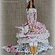 """Куклы Тильды ручной работы. Заказать Интерьерная кукла в стиле тильда""""Лилиан"""". Маргарита Пожидаева (Margoshadolls). Ярмарка Мастеров. Розы, кружево"""