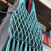 Сумки и аксессуары handmade. Livemaster - original item String bag made of suede leather turquoise bag bag leather string bag. Handmade.