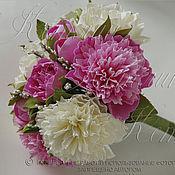 Свадебный салон ручной работы. Ярмарка Мастеров - ручная работа Свадебный букет с пионами и розами. Handmade.