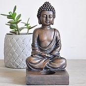 Для дома и интерьера handmade. Livemaster - original item Figurine-Buddha candle holder concrete on a square stand. Handmade.