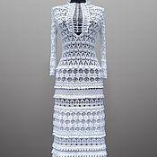 Одежда handmade. Livemaster - original item Crochet dress Eliza. White maxi lace wedding or evening crochet dress. Handmade.