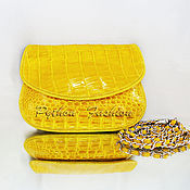 Сумки и аксессуары handmade. Livemaster - original item Clutch bag made from crocodile CROWN. Handmade.