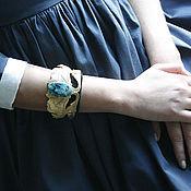 Украшения ручной работы. Ярмарка Мастеров - ручная работа Браслет с хризоколлой. Handmade.