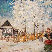 """Картины и панно ручной работы. Ярмарка Мастеров - ручная работа Картина маслом """"Морозко"""". Handmade."""