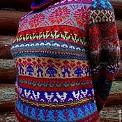 Одежда ручной работы. Ярмарка Мастеров - ручная работа Веселая ярмарка. Женский свитер. Handmade.