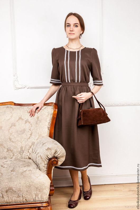 Платья ручной работы. Ярмарка Мастеров - ручная работа. Купить Платье в винтажном стиле. Handmade. Коричневый, винтажный, аристократизм
