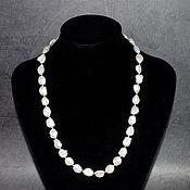 Работы для детей, handmade. Livemaster - original item 925 sterling silver Beads / necklace white pearl Keshi Baroque Kasumi. Handmade.