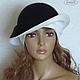 """Шляпы ручной работы. Ярмарка Мастеров - ручная работа. Купить Валяная шляпка """"Чёрно-белая"""" женская тёплая. Handmade."""