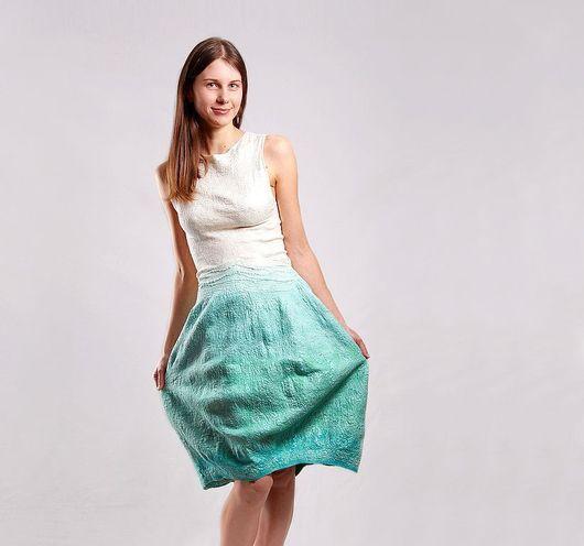 Платья ручной работы. Ярмарка Мастеров - ручная работа. Купить Мятное платье. Handmade. Модное платье, зеленый, аквамарин