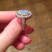 """"""" Принцесса"""" Золотое кольцо с опалом Австралии"""