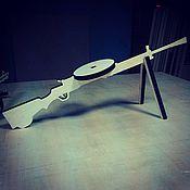 Куклы и игрушки ручной работы. Ярмарка Мастеров - ручная работа Пулемет Дегтярева - игрушка оружие. Handmade.