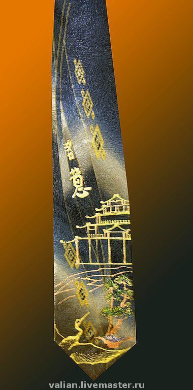 Галстуки, бабочки ручной работы. Ярмарка Мастеров - ручная работа. Купить Исполнение желаний, золото, галстук - талисман. Handmade. Талисман