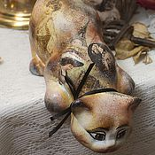 Для дома и интерьера handmade. Livemaster - original item Glamurrrr (ceramic cat). Handmade.