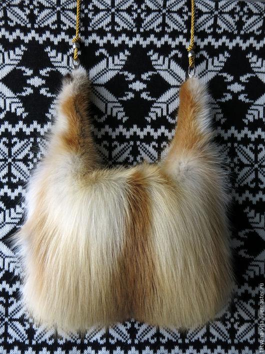 Варежки, митенки, перчатки ручной работы. Ярмарка Мастеров - ручная работа. Купить Муфта из рыжей лисы 2. Handmade.