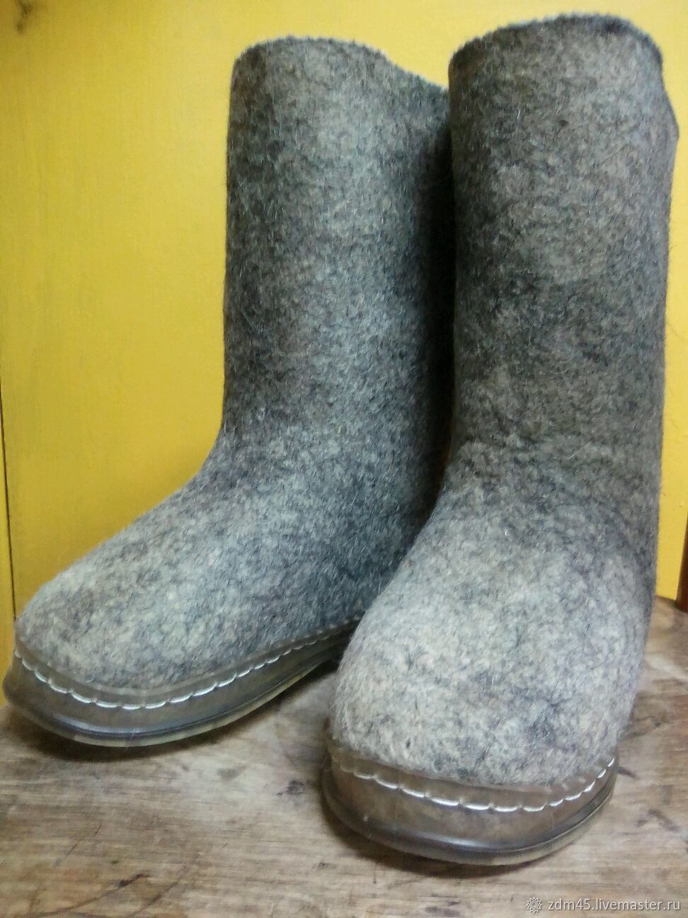 Boots with silicone soles, Felt boots, Kurgan,  Фото №1