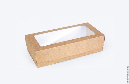 Упаковка ручной работы. Ярмарка Мастеров - ручная работа. Купить Коробка с окном 17 х 7 х 4 см.. Handmade.