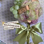 """Цветы и флористика ручной работы. Ярмарка Мастеров - ручная работа Топиарий """"In vino veritas"""". Handmade."""