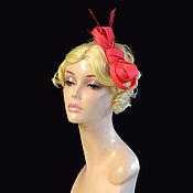 handmade. Livemaster - original item Red small hat. Handmade.