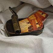 """Канцелярские товары ручной работы. Ярмарка Мастеров - ручная работа Визитница """"Банка от шпрот"""". Handmade."""