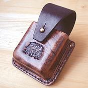 Сумки и аксессуары ручной работы. Ярмарка Мастеров - ручная работа Кожаный чехол для сигарет. Handmade.