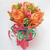 """Цветы и флористика ручной работы. Ярмарка Мастеров - ручная работа Букет из конфет """"Очаровашка"""". Handmade."""