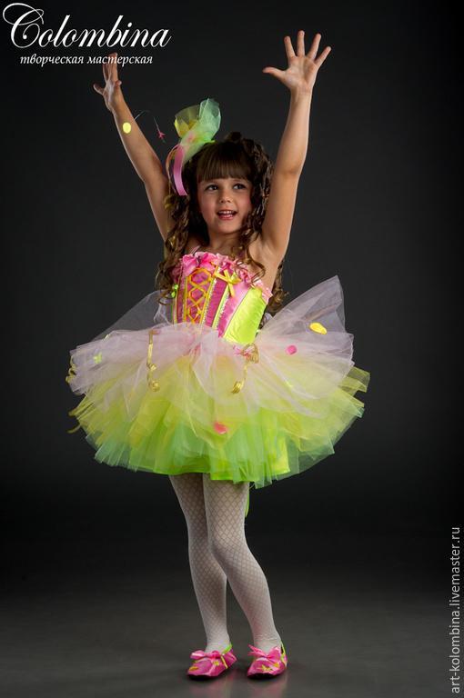 Детские карнавальные костюмы ручной работы. Ярмарка Мастеров - ручная работа. Купить Костюм хлопушки. Handmade. Разноцветный, фатин