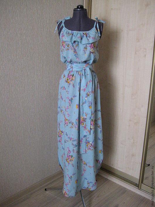 Платья ручной работы. Ярмарка Мастеров - ручная работа. Купить Летнее платье-сарафан. Handmade. Платье, платье-сарафан, вискоза