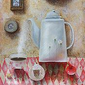 Картины ручной работы. Ярмарка Мастеров - ручная работа Натюрморт с чайником картина живопись. Handmade.