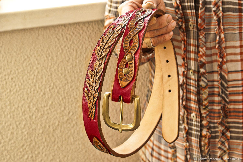 Women's Belt 'Knot and leaves' color, Straps, Krasnodar,  Фото №1