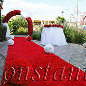 Свадебный салон ручной работы. Ярмарка Мастеров - ручная работа Флористический декор свадьбы в красно-белом цвете. Handmade.