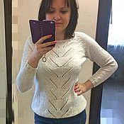 """Одежда ручной работы. Ярмарка Мастеров - ручная работа Летний свитер """"Tweed cotton"""". Handmade."""